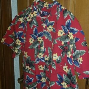 Ralph Lauren Chaps FLOWERED BUTTON DOWN